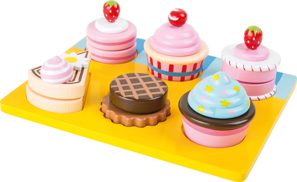 Childrens Wooden Cupcakes Cake Set Children Ihanaiset Web Shop