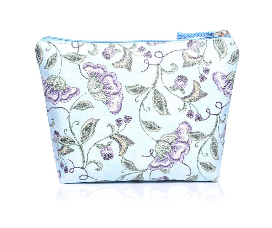 Makeup Bag Floral Floral Print M-size Blue U00ab Wash Bags | Make Up Bags U00ab Ihanaiset Web Shop
