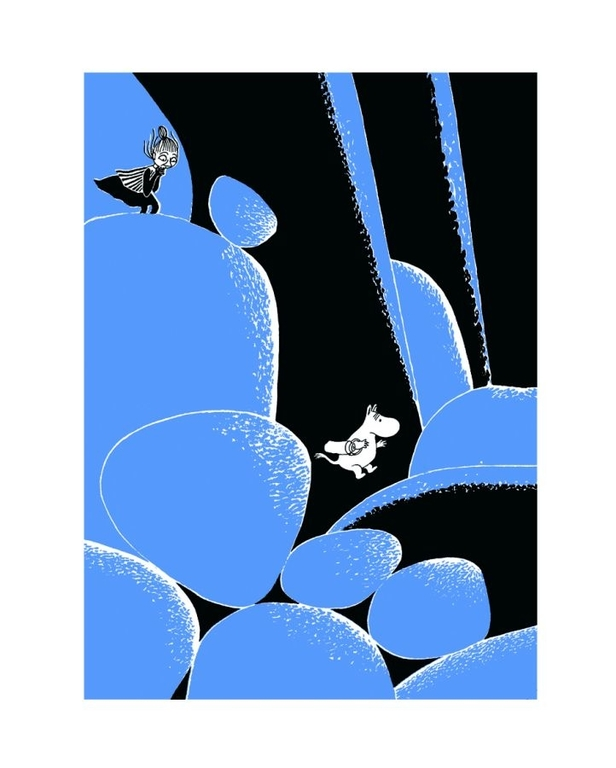 Moomin Poster Rocking Chair in the Forest 24 x 30 cm