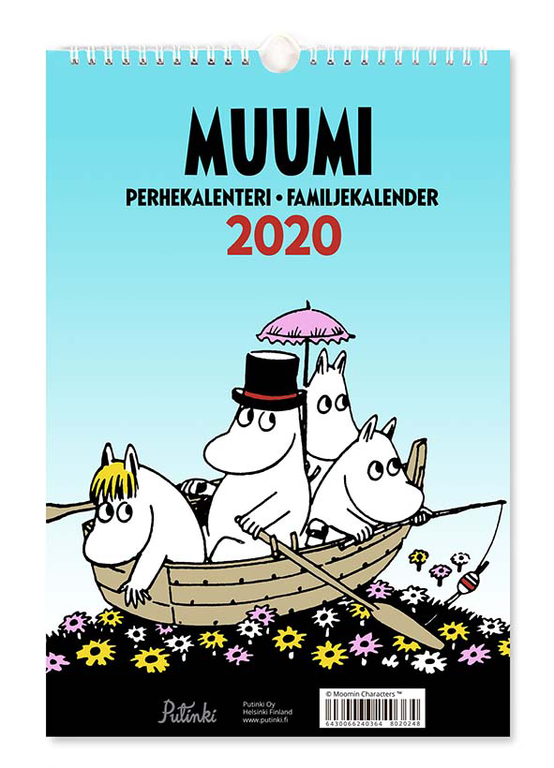 Moomin family calendar 2020, 23x34cm « Stationary « Ihanaiset web shop