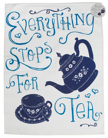 """Everything stops for tea"" keittiöpyyhe"