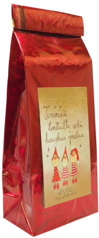 """Greetings from the elves"" christmas flavour coffee, cinnamon/hazelnut"