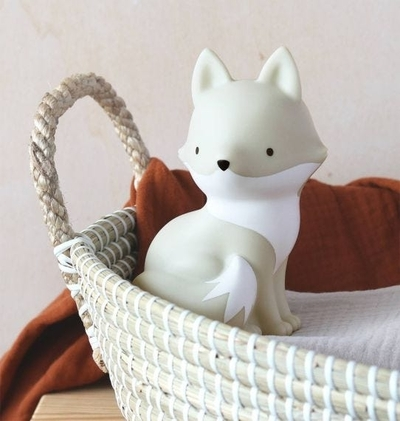 A Little Lovely Company lamp, white Fox