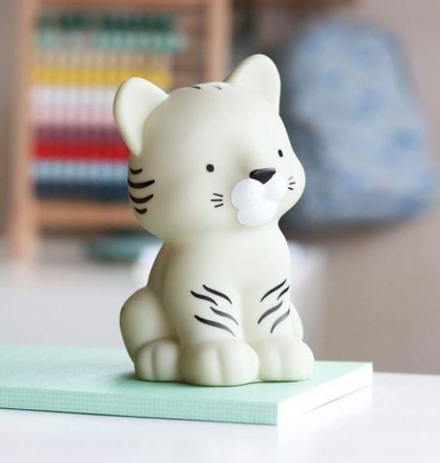 A Little Lovely Company lamp, white Tiger
