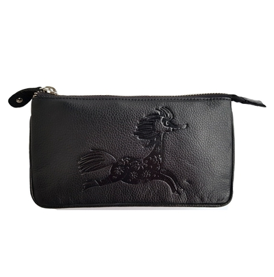Lasessor Primadonna leather shoulder bag/clutch bag, black