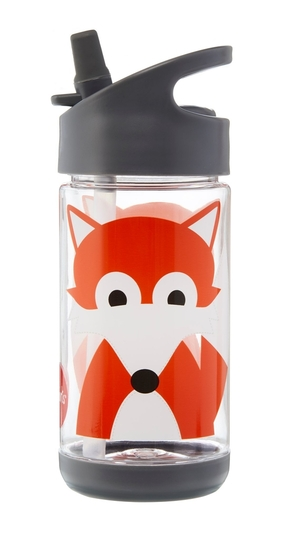 3 Sprouts children's drinking bottle fox, gray