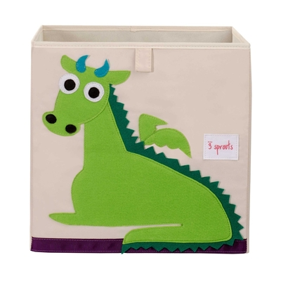 3 Sprouts storage box, green dragon