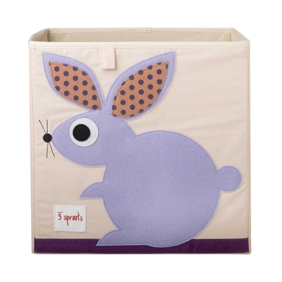 3 Sprouts storage box, lilac bunny