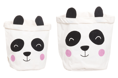 4Living Panda storing basket, set of 2