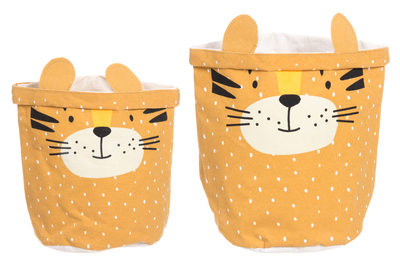 4Living Tiger storing basket, set of 2