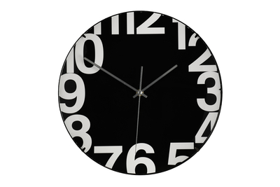 4Living Wall clock Pilleri 30cm, black