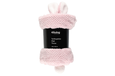 4Living throw blanket Bunny 120x150 light pink