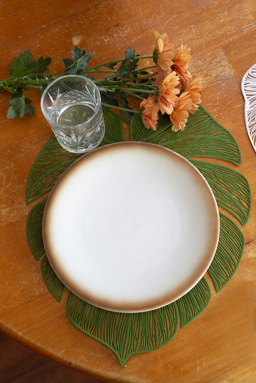 4living placemat Leaf, green