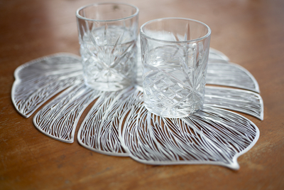 4living placemat Leaf, silver