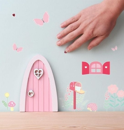 A Little Lovely Company Fairy door, light pink
