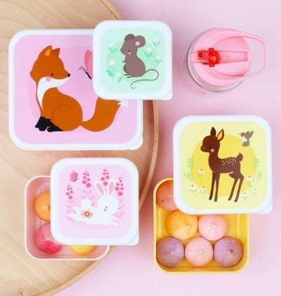 A Little Lovely Company Lunch box set, Forest animals