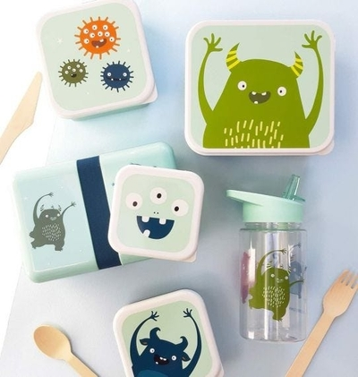 A Little Lovely Company Lunch box set, Monsters