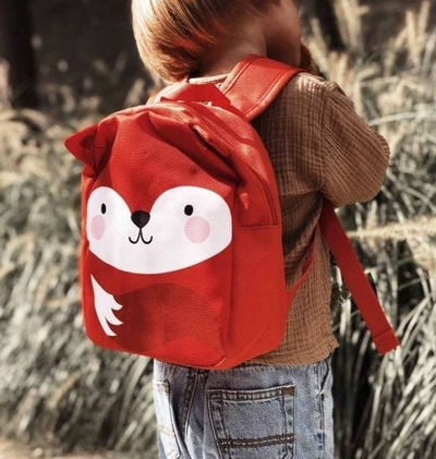 A Little Lovely Company backpack, orange fox