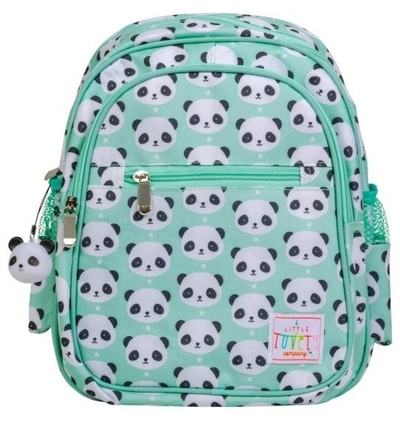A Little Lovely Company backpack, panda, mint green