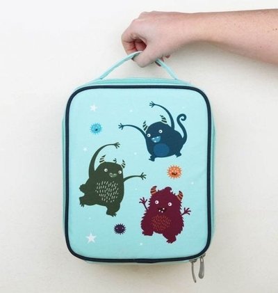 A Little Lovely Company cooler bag, monsters