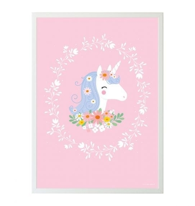 A Little Lovely Company poster, unicorn