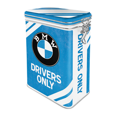 A tin can with a clamp, BMW Drivers Only