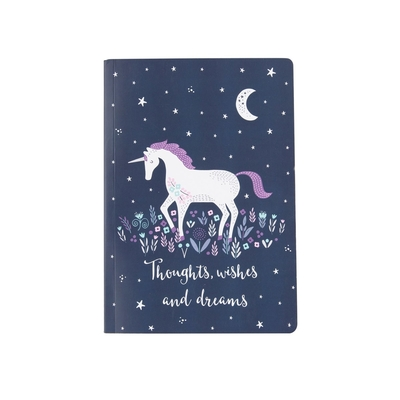 A5 Notebook, Unicorn, Starlight Unicorn