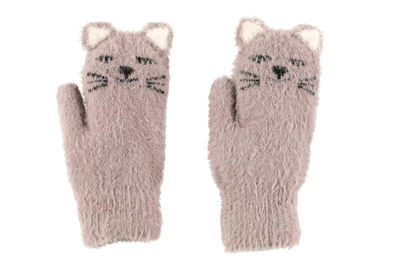 Acces child's Cat mittens, gray