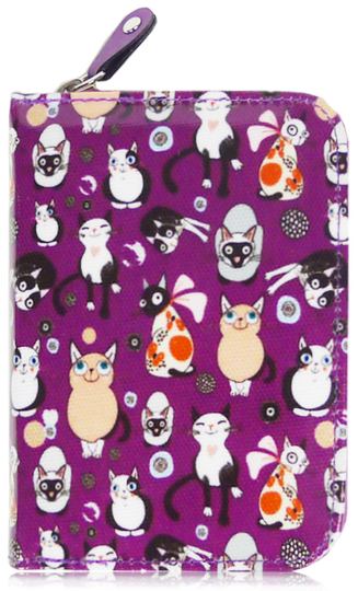 Adorable cats small wallet, lilac