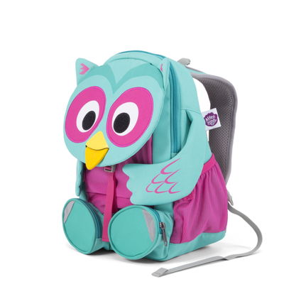 Affenzahn children's big club backpack, turquoise owl