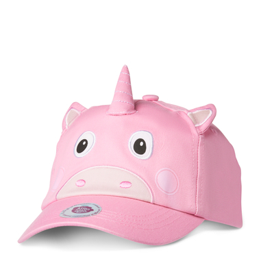Affenzahn children's fitted cap, light pink unicorn