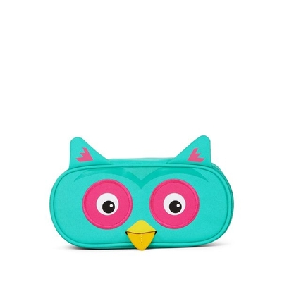 Affenzahn children's pencil case, turquoise owl