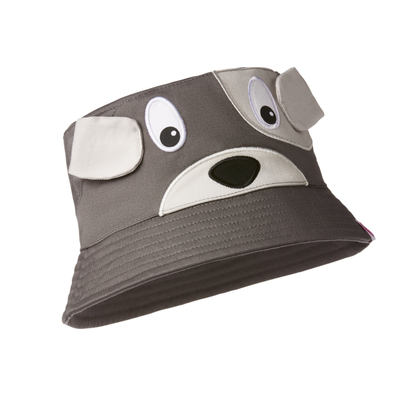 Affenzahn children's summer hat, grey dog