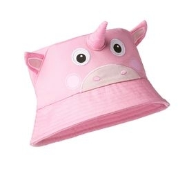 Affenzahn children's summer hat, light pink unicorn
