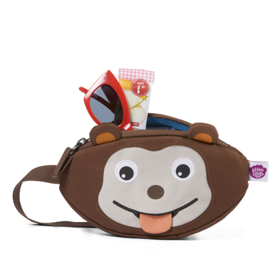 Affenzahn children's waist bag, brown monkey
