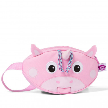 Affenzahn children's waist bag, light pink unicorn