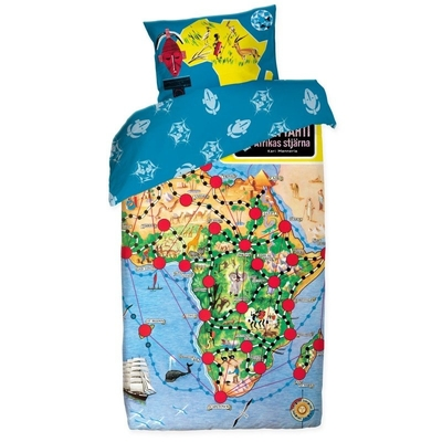 Afrikan tähti Map duvet cover set 150 x 210 cm