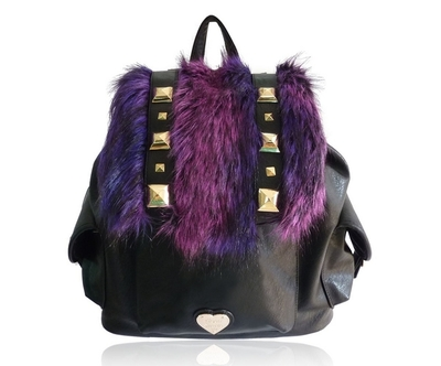 Anna Smith backpack, with faux fur
