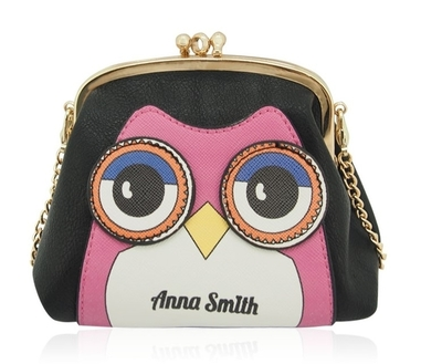 Anna Smith owl purse with a shoulder strap