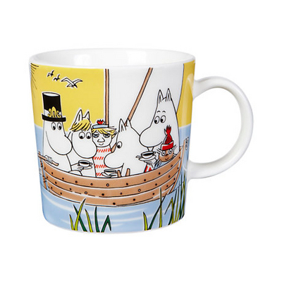 Arabia Moomin Mug 2014 Sailing with Nibling & Too-Ticky