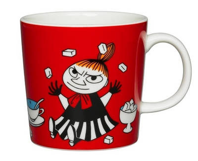 Arabia Moomin Mug Little My, red