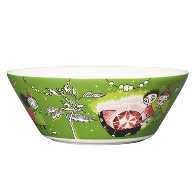 Arabia Moomin bowl Thingumy & Bob & King's ruby