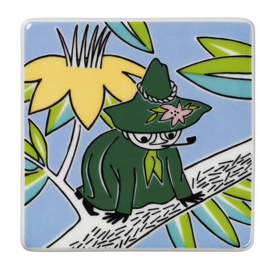 Arabia Moomin ceramics tree Snufkin 89 x 89mm