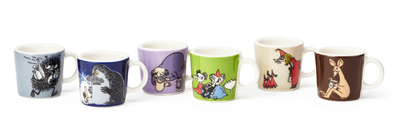 Arabia Moomin mini mugs 6 pcs 2. classics