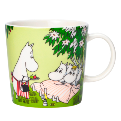 Arabia Moomin mug 2020 Relaxing, green