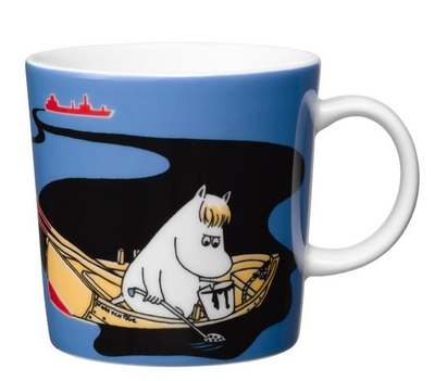 Arabia Moomin mug Keep Sweden Tidy II, blue, 2016