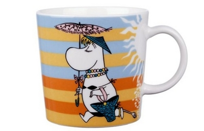 Arabia Moomin mug On the beach, 2008
