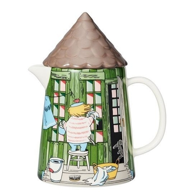 Arabia Moomin pitcher with a lid, Bath House, 1L