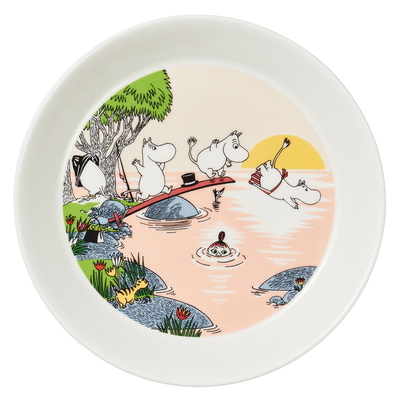 Arabia Moomin plate, Evening swim 2019, 19cm
