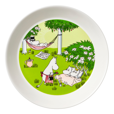 Arabia Moomin plate 2020 Relaxing, green